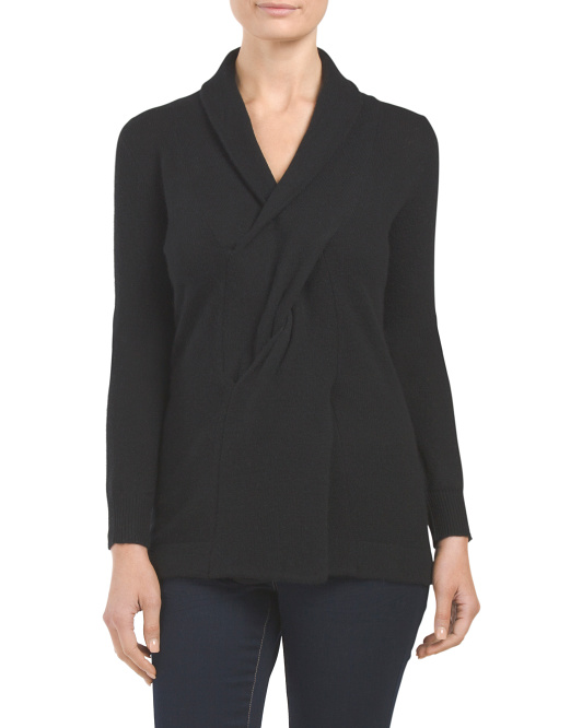 Cashmere Twist Front Sweater