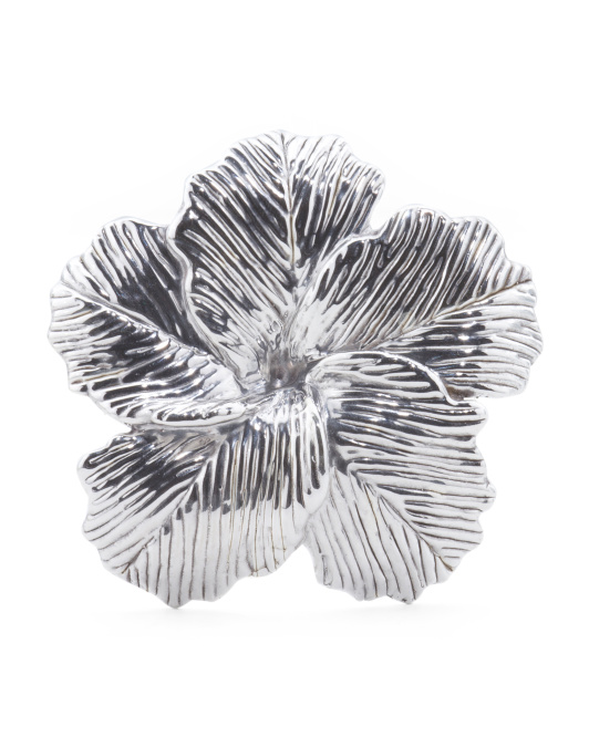 Made In Israel Sterling Silver Textured Flower Pin