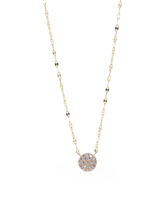 14k Gold Disc Necklace