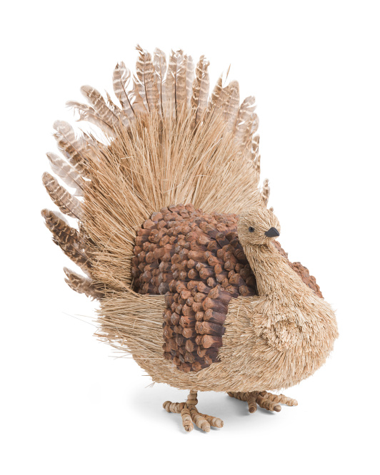 19in Natural Pine Cone Turkey