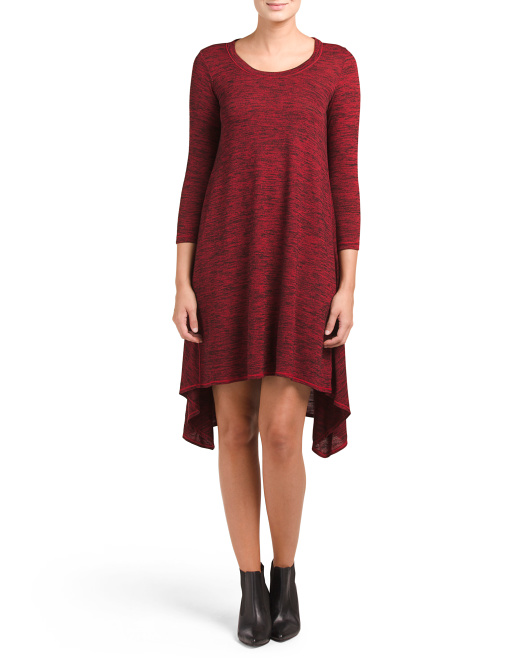 Asymmetrical Hem Knit Dress