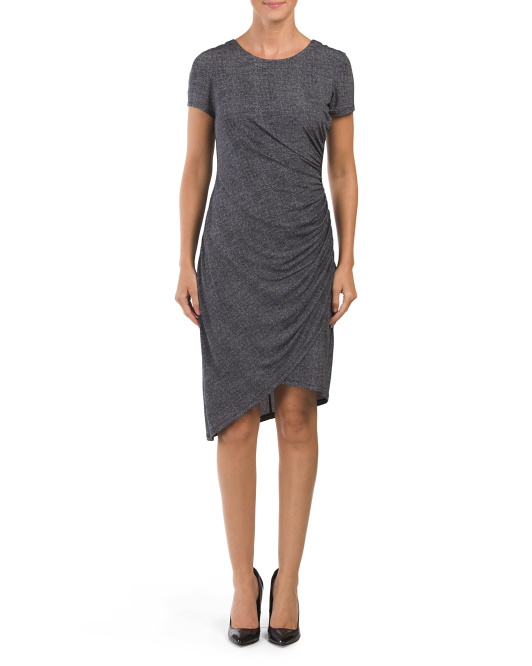 Denim Ruched Sheath Dress