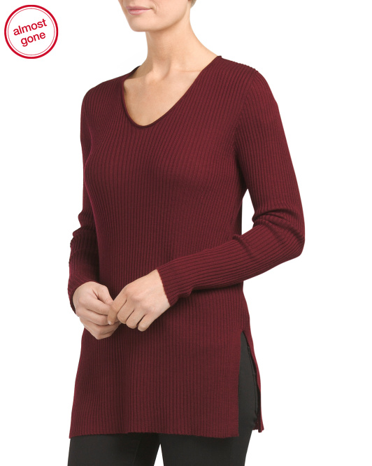 Long Sleeve Merino Wool Sweater