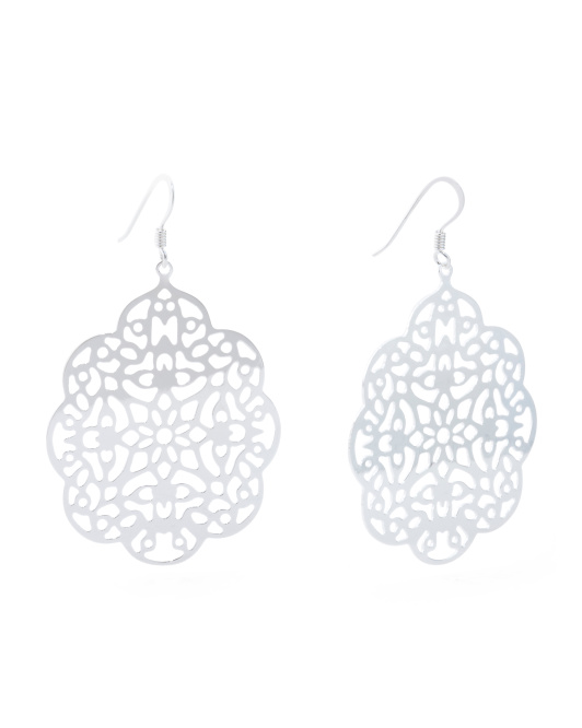 Made In Italy Sterling Silver Marrakesh Earrings
