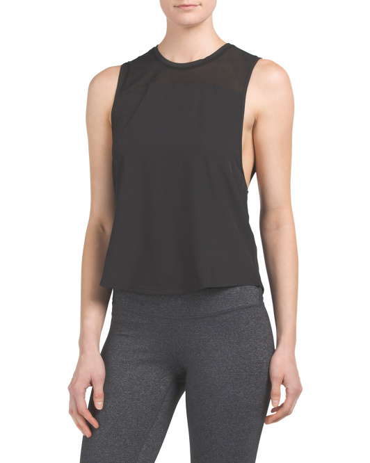 Mesh Inset Muscle Tank