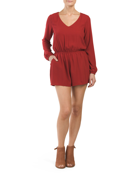 Juniors Open Tie Back Romper