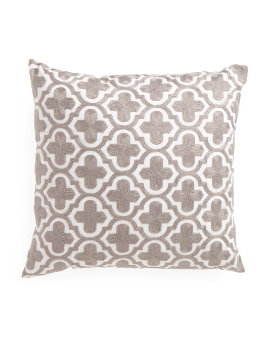 20x20 Embroidered Medallion Pillow