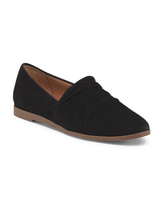 Suede Slip On Flat