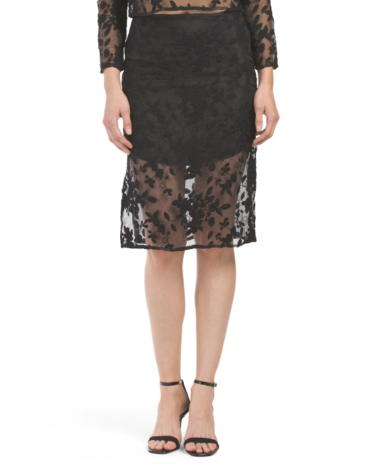 Lace Apparition Pin Skirt