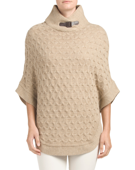 Made In Italy Sweater Poncho