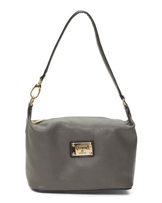 Made In Italy Leather One Handle Hobo