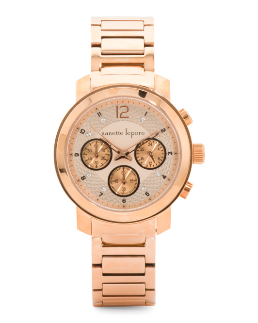 Women's Olivia Chronograph Watch In Rose Gold