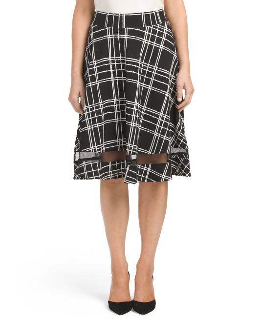 Windowpane Illusion Skirt