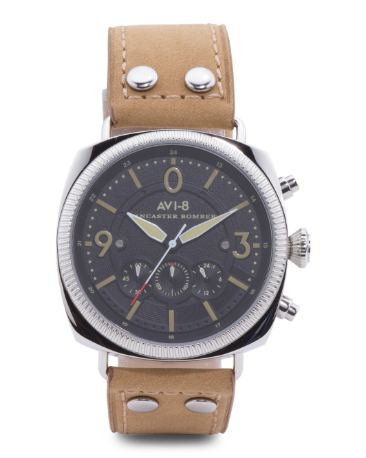 Men's Lancaster Bomber Leather Band Watch