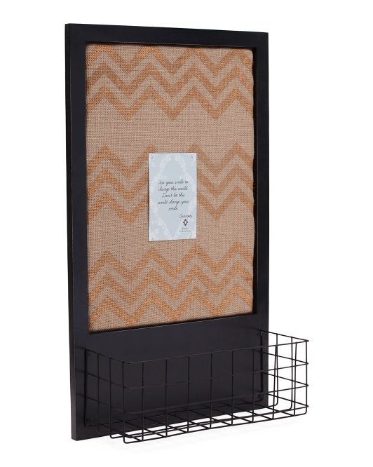 16x28 Chevron Pin Board Wall Organizer