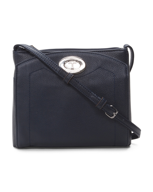 Function Forever RFID Blocking Leather Crossbody