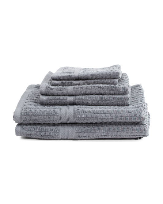 6pc Naples Bath Towel Set