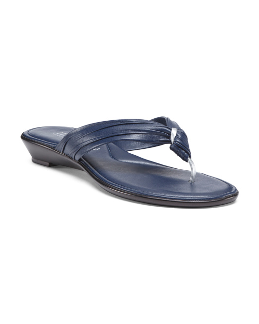 Made In Italy Wide Band Thong Sandals