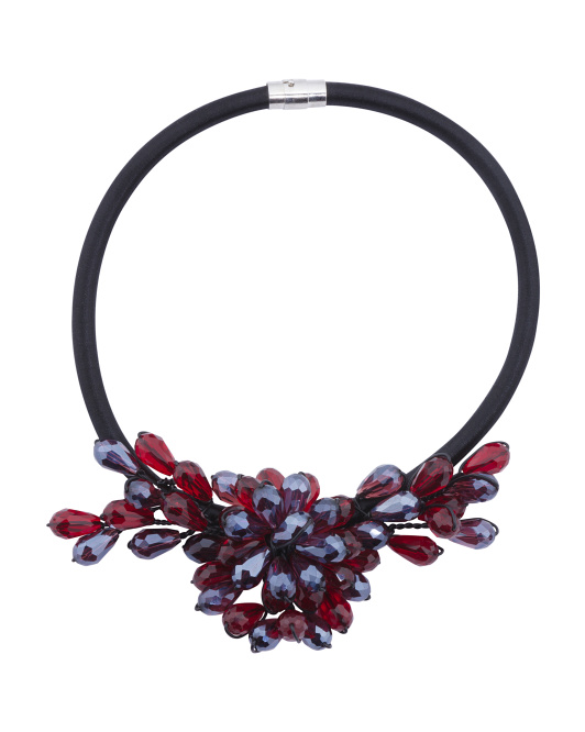 Crystal Flower Collar Necklace