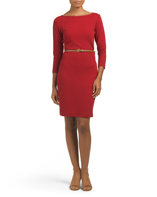 River Knit Belted Dress