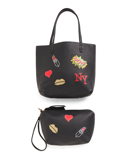 Reversible Tote With Patches