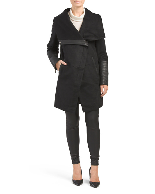 Diana Wool Asymmetrical Coat