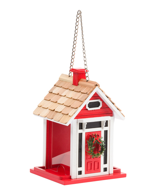 Christmas Cottage Bird Feeder