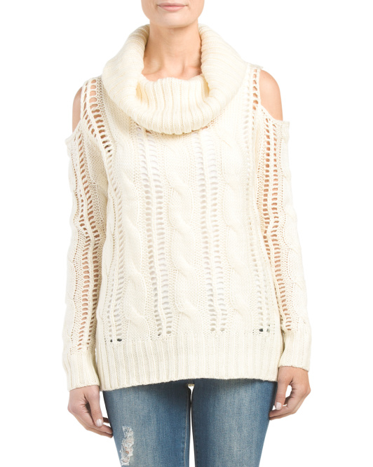 Juniors Cold Shoulder Sweater