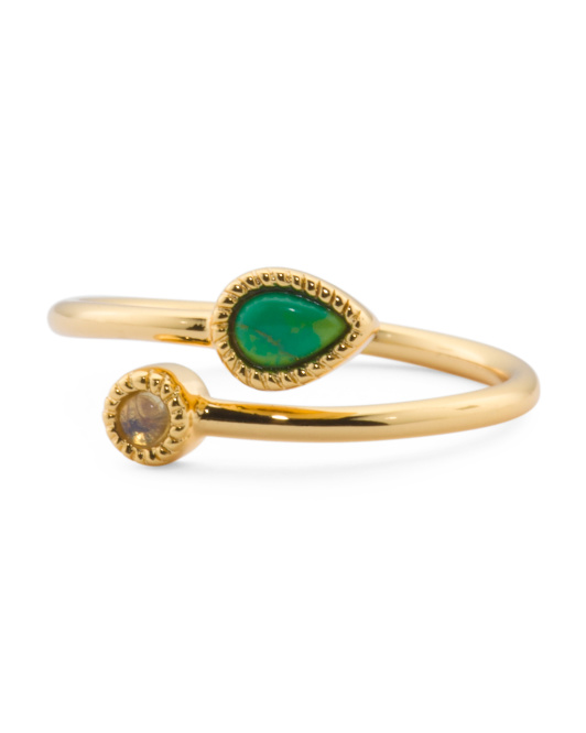 Astrid Crossover Ring In Gold Tone
