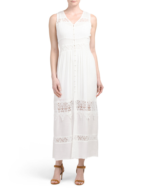 Cosima Button Front Maxi Dress