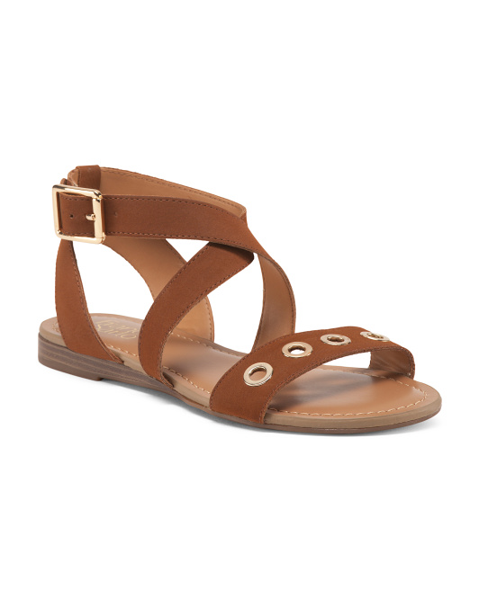 Flat Sandals With Grommets