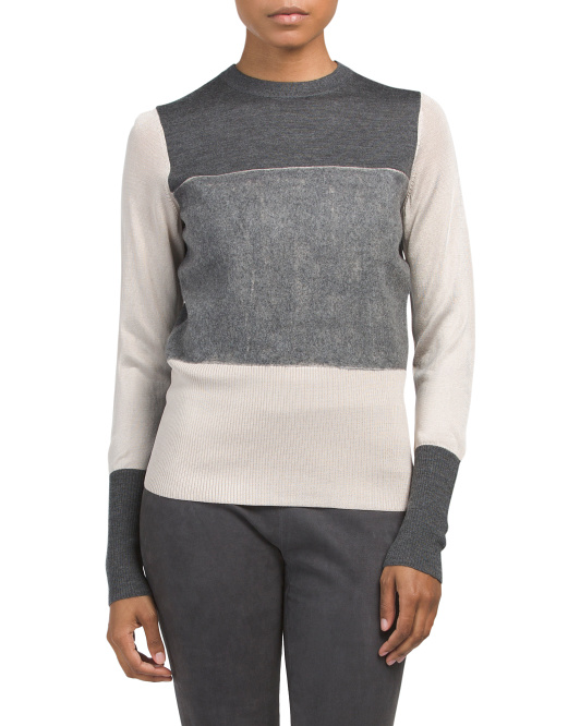Marissa Crew Neck Merino Wool Sweater