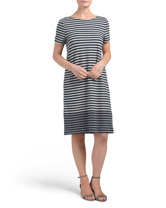 Short Sleeve Dress With Placket