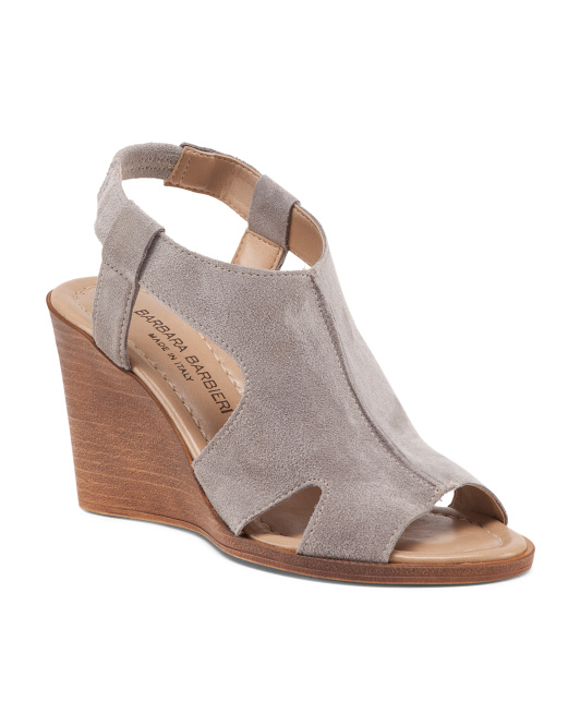Made In Italy Suede Wedges