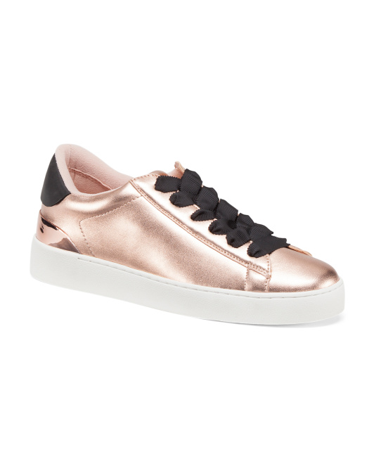 Palyla Lace Up Leather Sneakers