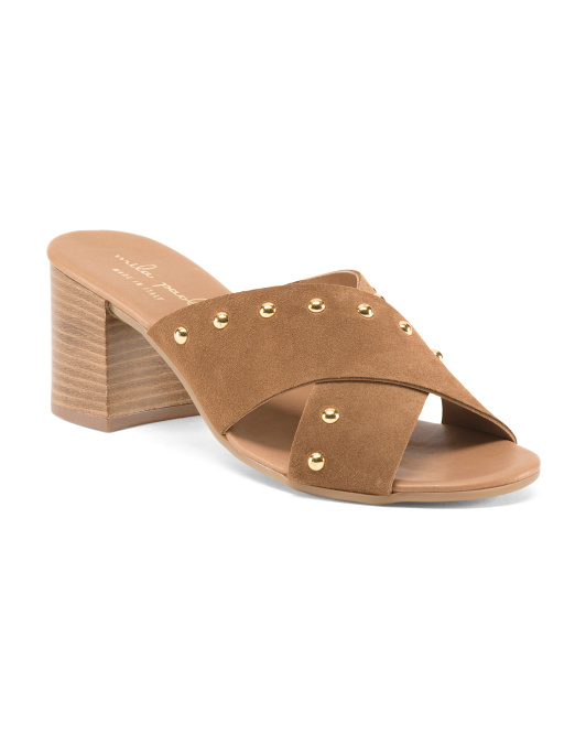 Made In Italy Studded Leather Sandals