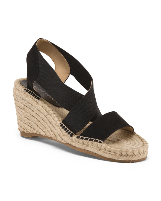 Cross-band Wedge Espadrilles