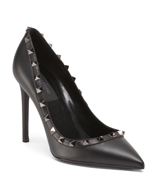 Made In Italy Rockstud Leather Pumps