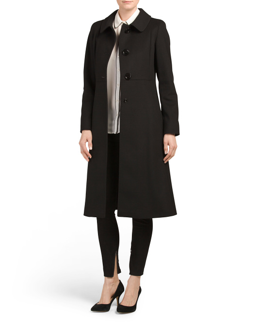 Made In Italy Walker Wool A Line Coat