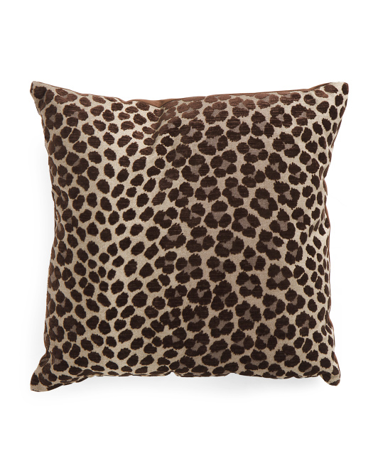Made In USA 22x22 Panther Flocked Print Pillow