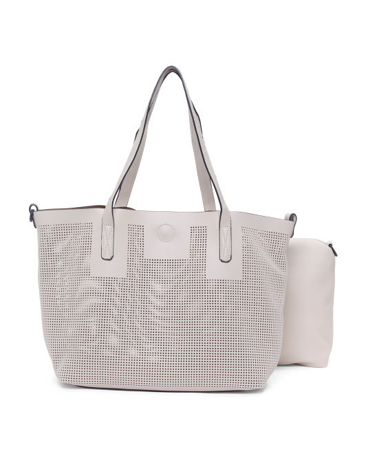 Perforated Tote With Pouch