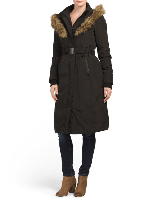 Cameron Down Coat With Faux Fur