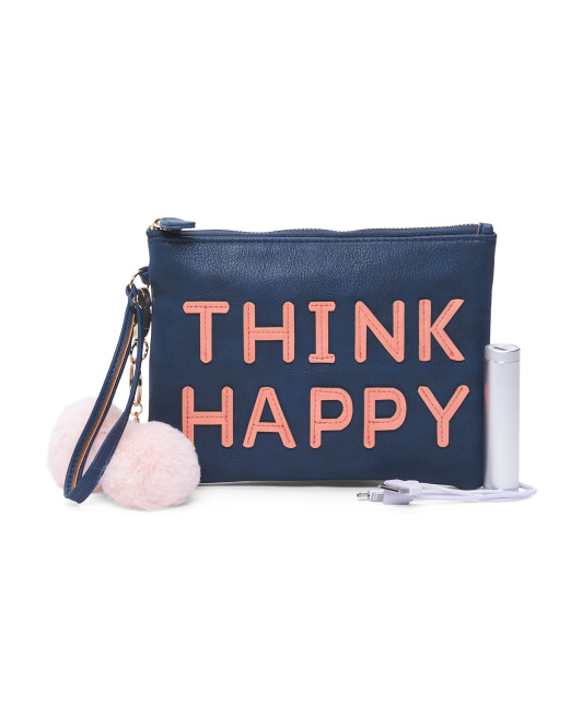 Think Happy Charging Wristlet