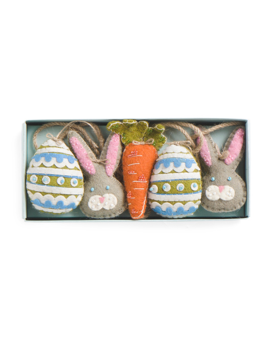 Made In India Carrot Egg & Bunny Garland