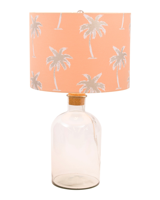 Palm Leaf Fillable Lamp