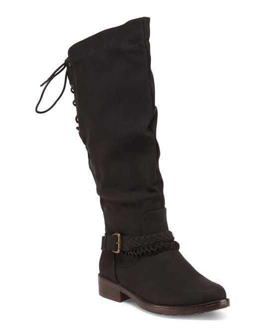 Back Tie High Shaft Boots