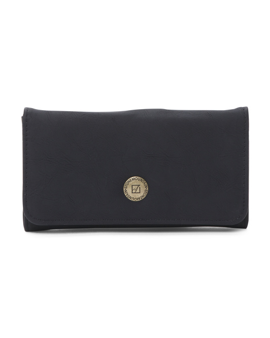 Talia Tri-fold Nubuck Leather Wallet