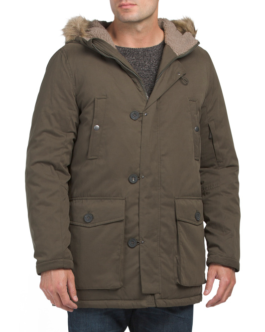 Micro Poly Faux Down Park Coat
