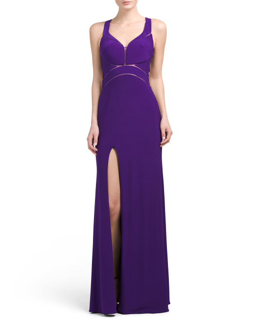 Cut Out Slit Leg Gown