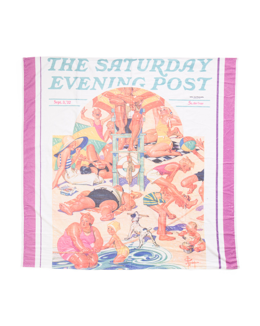 Made In Portugal The Saturday Evening Post Beach Towel